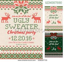ugly christmas sweater card download free vector art stock