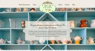 lemon lily tea room oviedo fl bakery logo and website design