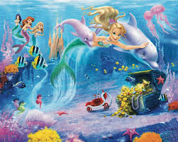 wallpops walltastic wall art mermaids 10 x 96 default name