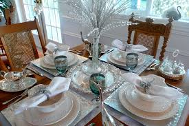 silver centerpieces silver charger plates in traditional vancouver with christmas