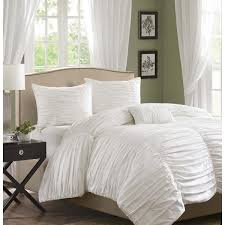 helena scalloped white ruched comforter bedding u2013 sky iris