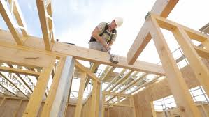 frame house carpenter building timber frame house stock footage video