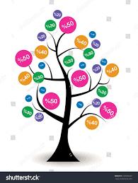 discount tree artwok vector design stock vector 167606642