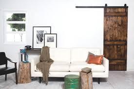 canapé grange porte coulissante suspendue de style grange ou moderne