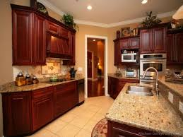 kitchen wall colors with dark cabinets cherry wood color paint