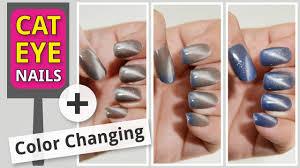 cat eye gel polish with magnet u2013 color changing u2013 diy at home