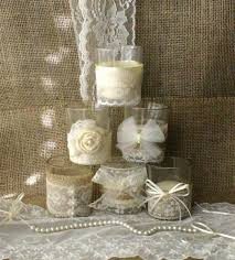 Candle Centerpiece Wedding Burlap And Lace Wedding Tea Candles Victorian Wedding Centerpiece