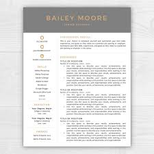 resume templates for mac text edit double space cv template resume bailey resume templates creative market