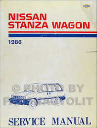 1986 nissan stanza wagon owner u0027s manual original