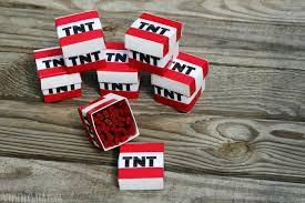 minecraft party favors minecraft party favors tnt boxes