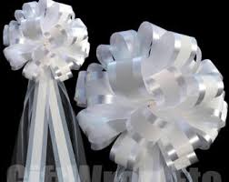 bows for wedding chairs wedding chair bows etsy