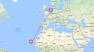 cape verde map world direct flights from amsterdam to cape verde for only 197