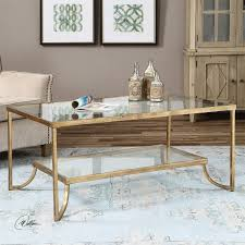 uttermost 24540 katina gold leaf coffee table thippo