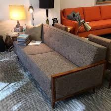 Midcentury Modern Sofa Mid Century Modern Sofa With Wood Arms Loft 63