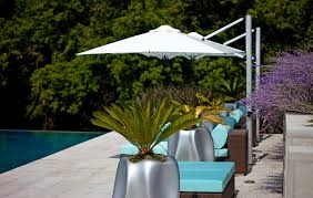 Modern Pool Furniture by Cantilever Umbrella For Pool Contemporary With Zero Edge Pool