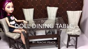 How To Make Dining Room Chairs Diy How To Make Easy Doll Dining Table Dollhouse Miniature