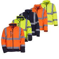 hi vis softshell cycling jacket men u0027s hi vis visibility soft shell jacket safety work wear en
