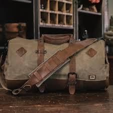 Rugged Duffel Bags Vintage Travel Bag Leather U0026 Canvas Buffalo Jackson