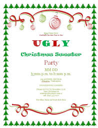 ugly christmas sweater party invitations free downloads custom