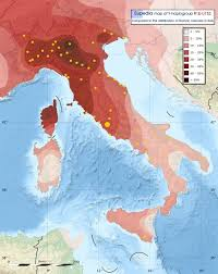 Map Of Ancient Italy by Distribution Map Of Y Dna Haplogroup R1b U152 S28 In Italy
