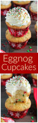 one bowl eggnog cupcakes baker by nature