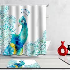 peacock bathroom ideas bathroom peacock feather shower curtain peacock shower curtain