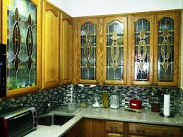 Glass Panel Kitchen Cabinets Kitchen Cabinet Stained Glass Panel Insert