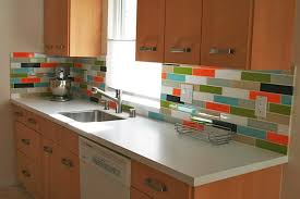 Ceramic Tile Backsplash Modern Small Kitchen Design With White - Diy kitchen backsplash tile
