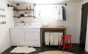 basement laundry room makover idea before and after plus design