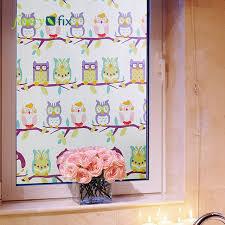fensterfolie kinderzimmer fancy fix niedliche eule dekorative für kinderzimmer