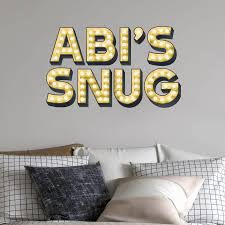 letters for the wall notonthehighstreet com personalised light up letters effect wall sticker