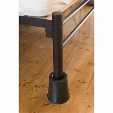 Bed Risers For Metal Frame Metal Bed Frame Using Black Bed Risers Bedroom With Useful Bed