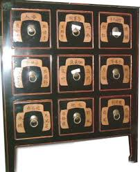 Cd Cabinet With Drawers Oriental Medicine Chest With Nine Drawers Black Lacquered Cabinet