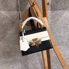 queen handbag famous brand genuine leather two tone queen handbag luxury honeybee