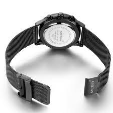 watches chronograph aliexpress com buy megir s quartz stainless steel mesh