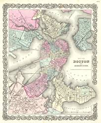 Boston Map Pdf by File 1855 Colton Plan Or Map Of Boston Geographicus Boston