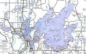 map mn lake map leech lake area chamber of commerce