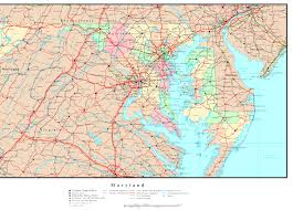 map of maryland with cities maryland political map