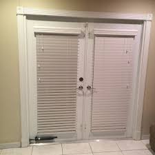 white neolux zebra privacy shades covering sliding doors yelp