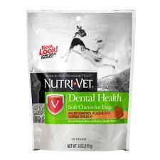 amazon com nutri vet dental health soft chews for dogs 6 ounce