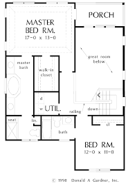 bedroom house plan blueprint plans 74d9ad8a2f20dfbe gif cottage