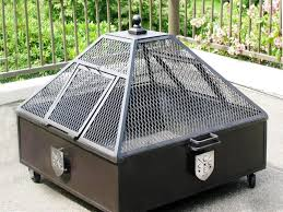 steel fire pit with cooking grate home fireplaces firepits