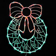 vickerman lighted led wreath with bow window