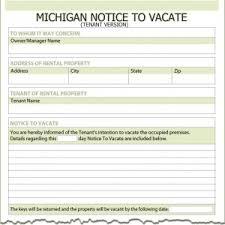 michigan tenant notice to vacate