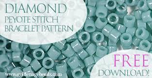 free beaded bracelet pattern images Diamond peyote stitch bracelet pattern free download golden jpg