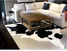 Black And White Living Room Rug Amazon Com Black And White Cowhide Rug Cow Hide Skin Leather Area