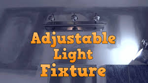 Installing A Bathroom Light Fixture by Making A Light Fixture Adjustable Youtube