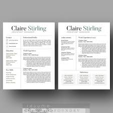 Two Page Resume Format Example by 291 Best Awesome Cv Template Images On Pinterest Resume