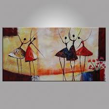 abstract ballet dancer oil painting on canvas figurative wall art