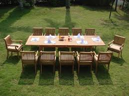 Teak Patio Dining Set - 13 piece luxurious grade a teak dining set review teak patio